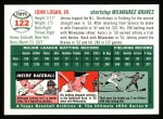 1954 Topps Archives #122  Johnny Logan  Back Thumbnail