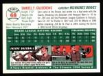 1954 Topps Archives #68  Sammy Calderone  Back Thumbnail