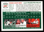 1994 Topps 1954 Archives #247  Eddie Mayo  Back Thumbnail