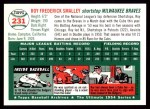 1954 Topps Archives #231  Roy Smalley  Back Thumbnail