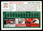 1954 Topps Archives #212  Mickey Micelotta  Back Thumbnail