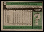 1979 Topps #188  Pat Kelly  Back Thumbnail
