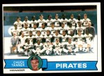 1979 Topps #244   -  Chuck Tanner Pirates Team Checklist Front Thumbnail