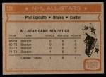 1972 Topps #124  Phil Esposito  Back Thumbnail