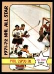 1972 Topps #124  Phil Esposito  Front Thumbnail