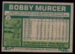 1977 Topps #40  Bobby Murcer  Back Thumbnail