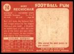 1958 Topps #74  Bert Rechichar  Back Thumbnail