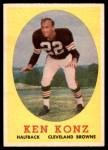 1958 Topps #26  Ken Konz  Front Thumbnail