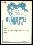 1965 Fleer Gomer Pyle #41   Gosh Did Your Momma Back Thumbnail
