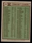 1976 Topps #203   -  Tom Seaver / Andy Messersmith / John Montefusco NL Strikeout Leaders Back Thumbnail