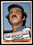 1976 Topps Traded #296 T Pat Dobson  Front Thumbnail