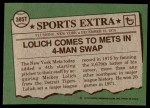 1976 Topps Traded #385 T Mickey Lolich  Back Thumbnail