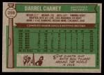 1976 Topps #259  Darrel Chaney  Back Thumbnail