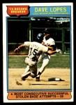 1976 Topps #4   -  Dave Lopes Record Breaker Front Thumbnail