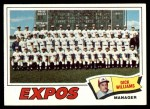 1977 Topps #647   -  Dick Williams  Expos Team Checklist Front Thumbnail