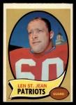 1970 Topps #33  Len St. Jean  Front Thumbnail