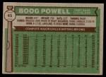 1976 Topps #45  Boog Powell  Back Thumbnail