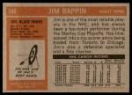 1972 Topps #148  Jim Pappin  Back Thumbnail