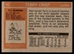 1972 Topps #103  Terry Crisp  Back Thumbnail