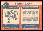 1968 Topps #44  Terry Gray  Back Thumbnail