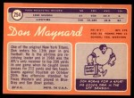 1970 Topps #254  Don Maynard  Back Thumbnail