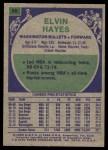 1975 Topps #60  Elvin Hayes  Back Thumbnail