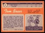 1970 Topps #64  Tom Beier  Back Thumbnail