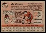 1958 Topps #63  Joe Nuxhall  Back Thumbnail