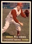 1957 Topps #32  Hersh Freeman  Front Thumbnail