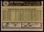 1961 Topps #444  Joe Nuxhall  Back Thumbnail