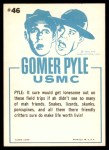 1965 Fleer Gomer Pyle #46   Hey There Li'l Ol' King Snake Back Thumbnail