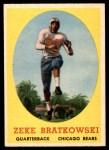 1958 Topps #23  Zeke Bratkowski  Front Thumbnail