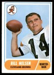 1968 Topps #189  Bill Nelsen  Front Thumbnail