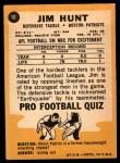 1967 Topps #10  Jim Hunt  Back Thumbnail