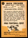 1967 Topps #87  Rich Zecher  Back Thumbnail