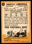 1967 Topps #103  Daryle Lamonica  Back Thumbnail