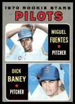 1970 Topps #88   -  Dick Baney / Miguel Fuentes Pilots Rookies Front Thumbnail