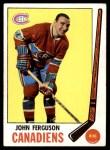 1969 Topps #7  John Ferguson  Front Thumbnail