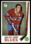1969 Topps #15  Jean Guy Talbot  Front Thumbnail