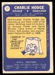 1969 Topps #77  Charlie Hodge  Back Thumbnail