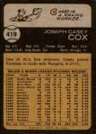 1973 Topps #419  Casey Cox  Back Thumbnail