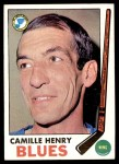 1969 Topps #17  Camille Henry  Front Thumbnail