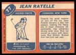 1968 Topps #77  Jean Ratelle  Back Thumbnail