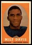 1958 Topps #98  Milt Davis  Front Thumbnail