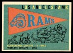 1959 Topps #126   Rams Pennant Front Thumbnail
