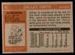 1972 Topps #45  Dallas Smith  Back Thumbnail