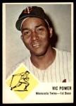 1963 Fleer #23  Vic Power  Front Thumbnail