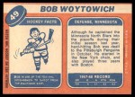 1968 Topps #49  Bob Woytowich  Back Thumbnail
