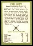 1963 Fleer #16  Jerry Lumpe  Back Thumbnail