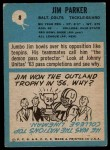 1964 Philadelphia #8  Jim Parker     Back Thumbnail